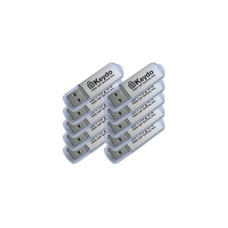 10xKeydo csomag (FIDO U2F) [Alumínium]