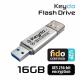 Keydo Flash Drive 16GB (FIDO U2F + AES) [Ezüst]