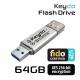Keydo Flash Drive 64GB (FIDO U2F + AES) [Ezüst]
